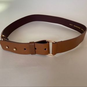 Boden Leather Tan Belt with Adjustable Holes Sz S